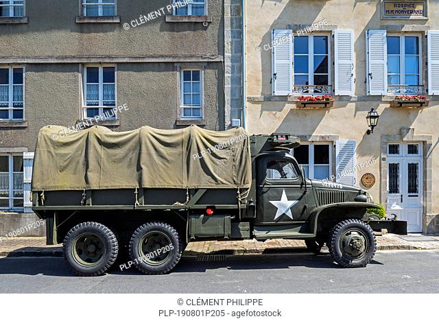 WW2 U.S. Army GMC CCKW 2½-ton 6x6 cargo truck with winch, also known as Jimmy or the G-508 used during the Normandy invasion