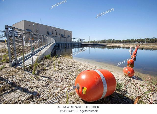 Naples, Florida - The Merritt Canal Pump Station in the Picayune Strand State Forest near Everglades National Park, where the Army Corps of Engineers is in the...