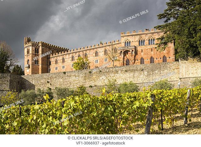 Brolio castle, Gaiole in Chianti, Siena province, Tuscany, Italy