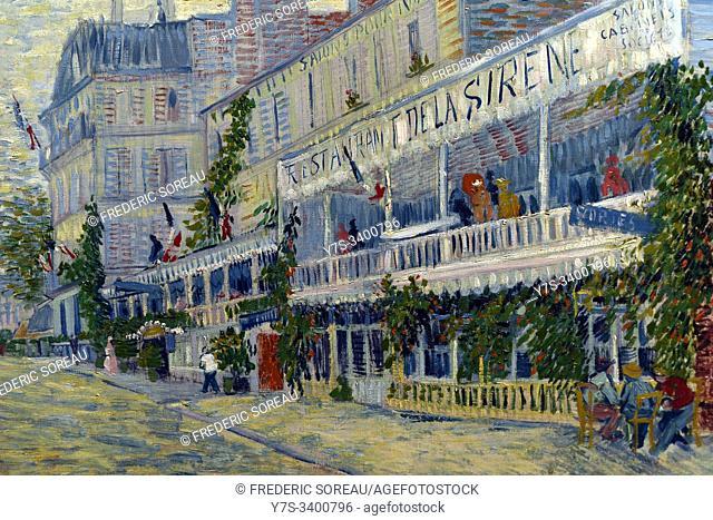 Le restaurant de la Siréne à Asnières, 1887, oil on canvas, Vincent Van Gogh, Orsay museum, Paris, France