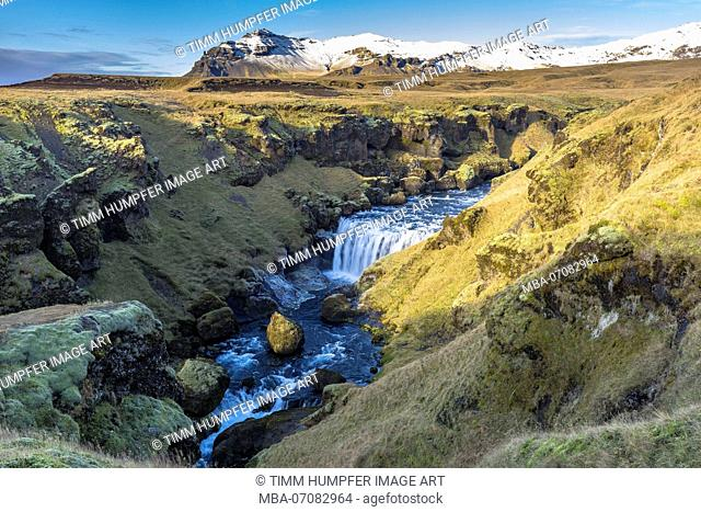 Europe, Northern Europe, Iceland, Skógar, Highlands, view to the impressive landscape on the Fimmvörduhals trail