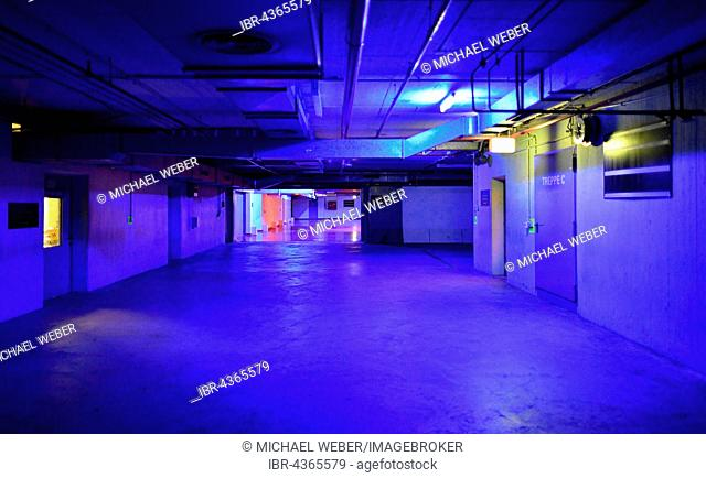 Main building, a former nuclear bomb shelter, fallout shelter, museum, interactive exhibition, The Story of Berlin, Berlin, Germany