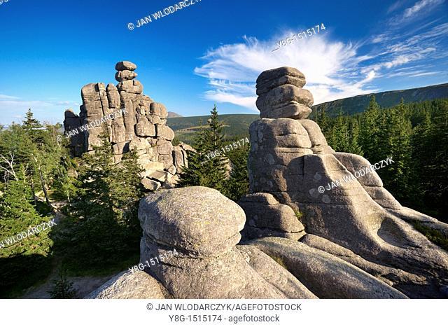 Rock Formation 'Pielgrzymy' Karkonosze National Park, Poland, Europe