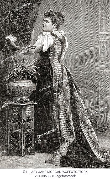 """Belle Cole, 1853â. """"1905. American contralto. From The Strand Magazine, published January to June 1894"""