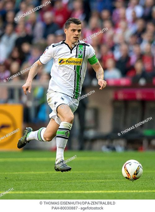 Moenchengladbach's Granit Xhaka in action during the German Bundesliga soccer match between FCBayern Munich and Borussia Moenchengladbach at theAllianz Arena...