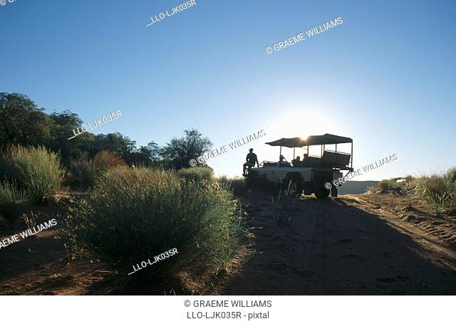 Game drive in Tswalu Desert Reserve, Northern Cape Province, South Africa