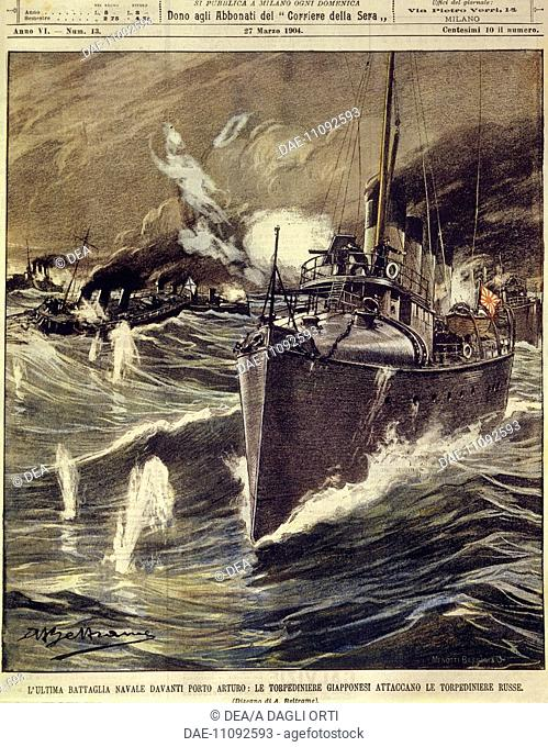China, 20th century, Russo-Japanese War (1904-1905) - Final naval battle, Japanese torpedo boat attack on the Russian ships at Port Arthur