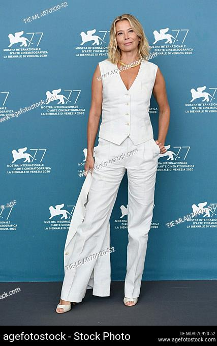 """Julia Vysotskaya attend the photocall of the movie """"""""Dorogie Tovarischi!"""""""" (Dear Comrades!) at the 77th Venice Film Festival on September 07, 2020 in Venice"""