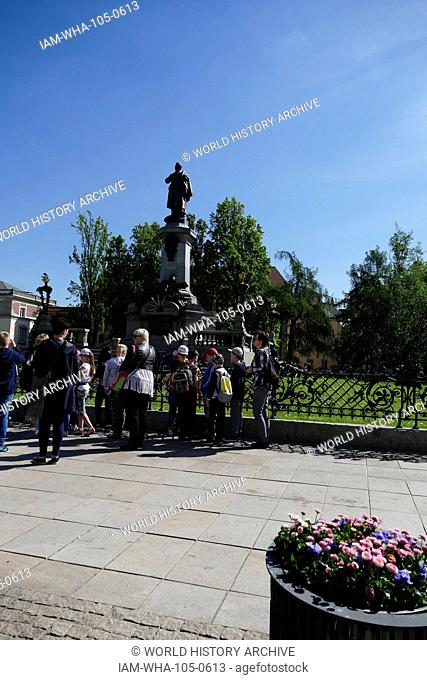 Statue in Warsaw commemorating, Adam Bernard Mickiewicz (1798 – 1855) Polish national poet