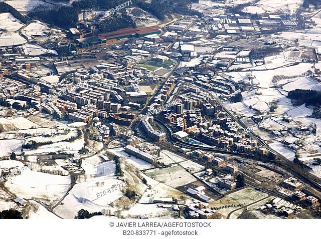 Snow, Azpeitia. Guipuzcoa, Basque Country, Spain