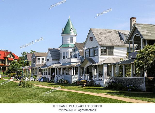 Homes in Ocean Park, Oak Bluffs, Martha's Vineyard, Massachusetts, United States