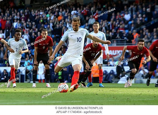 2016 International Football Friendly England v Turkey May 22nd. 22.05.2016. Etihad Stadium, Manchester, England. International football friendly match