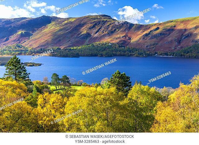 Darwent Water, Keswick, Lake District National Park, Cumbria, England, UK, Europe