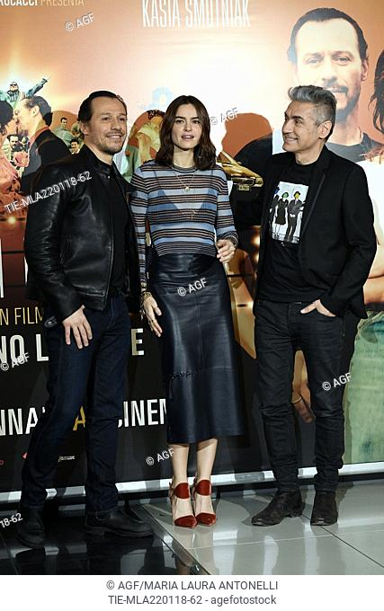 Luciano Ligabue, Stefano Accorsi, Kasia Smutniak during 'Made in Italy' film photocall, Rome, 22/01/2018