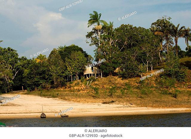 Riverine houses, Cuieiras River, Amazônia, Manaus, Amazonas, Brazil