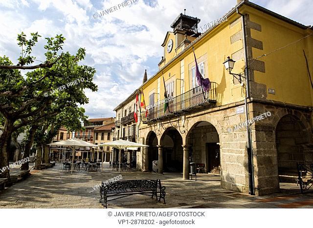 City Hall building in the Plaza Mayor de Piedrahíta. Piedrahita. Valley of the Crow. Avila. Castilla y León. Spain