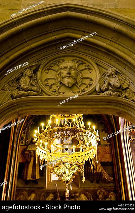 Detail. St. Wenceslas Chapel. . St. Vitus Cathedral. Prague. Czech Republic