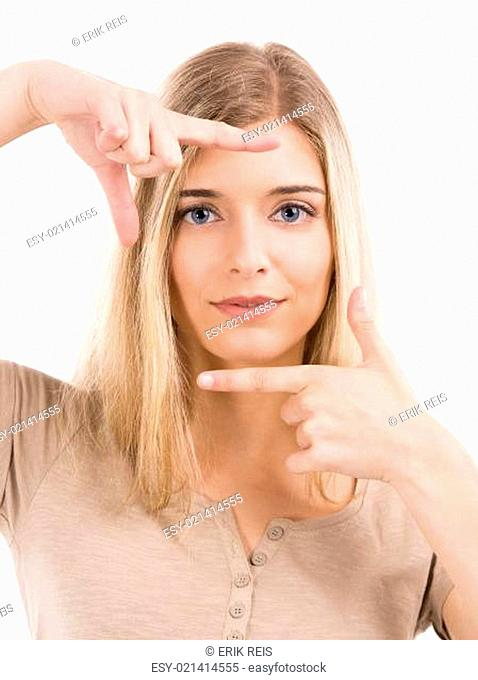 Framing her face