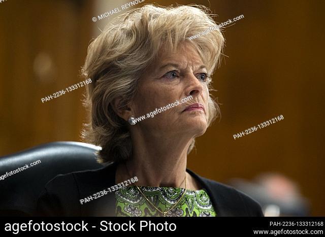 United States Senator Lisa Murkowski (Republican of Alaska) attends the US Senate Health, Education, Labor, and Pensions Committee hearing to examine COVID-19