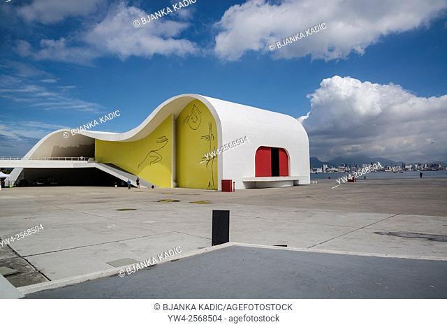 Popular Theatre of Niteroi, Niemeyer Way cultural center, Niteroi, Rio de Janeiro, Brazil
