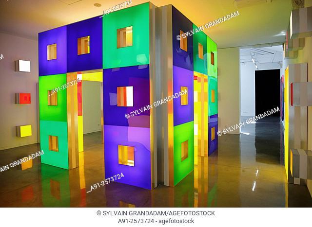 France, Languedoc-Roussillon, Herault, city of Serignan, the regional museum of modern art (Musee Regional d'Art Contemporain )