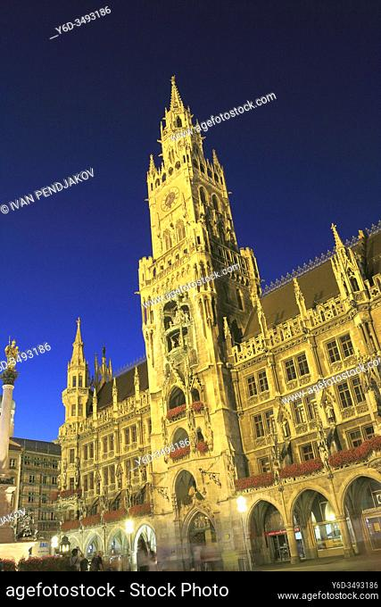 New Town Hall at Night, Munich, Germany