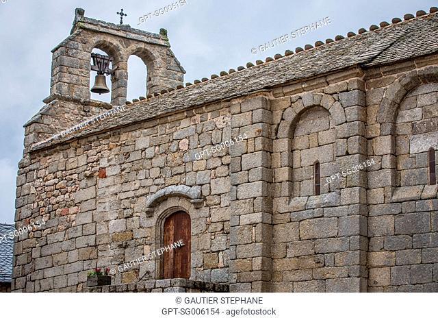 THE CHAPEL OF SAINT JEAN BAPTISTE, CHATEAU D'APCHER, PRUNIERES, (48), LOZERE, REGION OF OCCITANIE, FRANCE