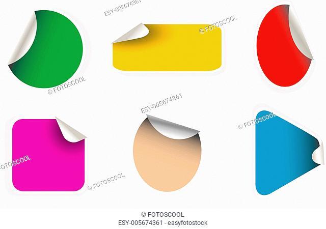 vector empty sticker set