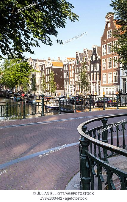 The historic centre of Amsterdam, Netherlands. UNESCO has designated the historic centre of the city and its canals as a World Heritage Site