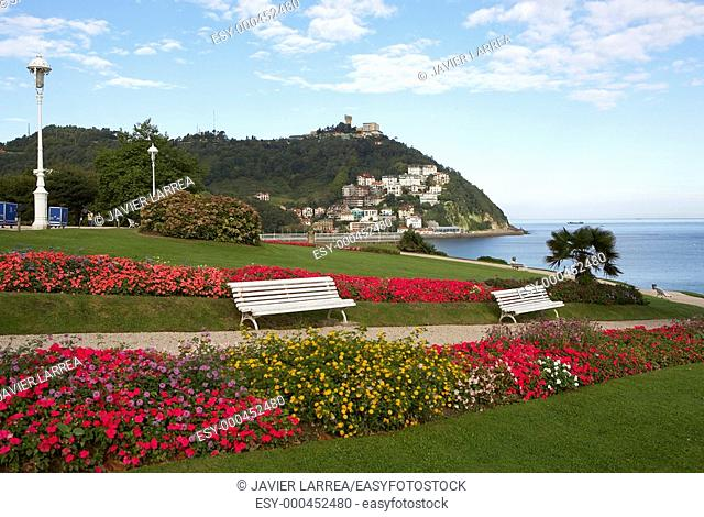 Jardines Palacio Miramar, Monte Igeldo, Donostia, San Sebastian, Gipuzkoa, Euskadi