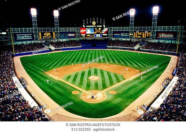U.S. Cellular Field, Chicago 'White Sox' baseball stadium. Chicago. Illinois, USA