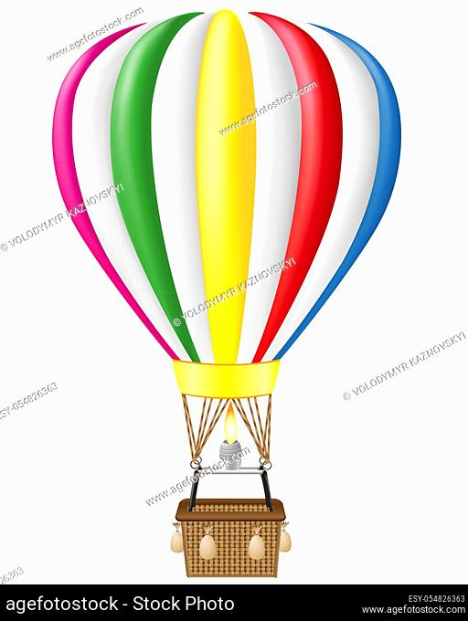 hot air balloon vector illustration isolated on white background