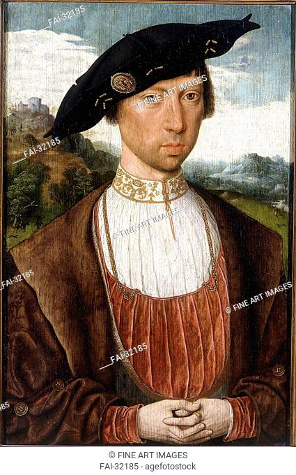 Portrait of Joost van Bronkhorst by Mostaert, Jan (1472/73-1555/56)/Oil on wood/Early Netherlandish Art/1519-1529/The Netherlands/Petit Palais