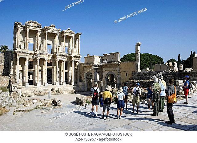 Library of Celsus, ruins of Ephesus. Turkey