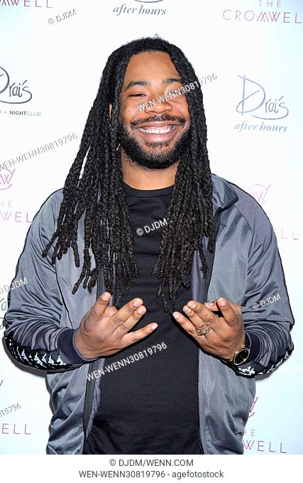D.R.A.M. ahead of his debut performance at Drai's nightclub in the Cromwell Hotel & Casino in Las Vegas, Nevada. Featuring: Shelley Marshaun Massenburg-Smith, D