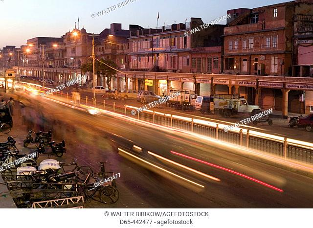 Evening Traffic. Chandpol Bazaar. Jaipur. Rajasthan. India