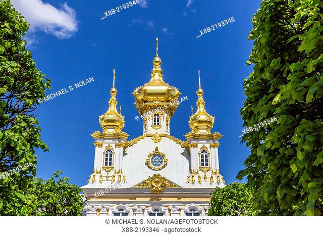 External view of Peterhof, Peter the Great's Palace, St. Petersburg, Russia