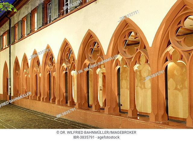 Cloister, Dominican monastery of St. Martin, Rathausplatz square, Freiburg im Breisgau, Baden-Württemberg, Germany