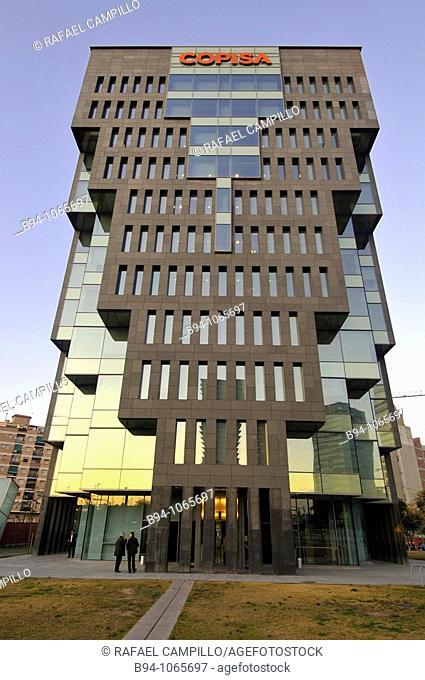 Copisa Tower (2007) by architect Oscar Tusquets, Plaça d'Europa square, L'Hospitalet de Llobregat, Barcelona province, Catalonia, Spain