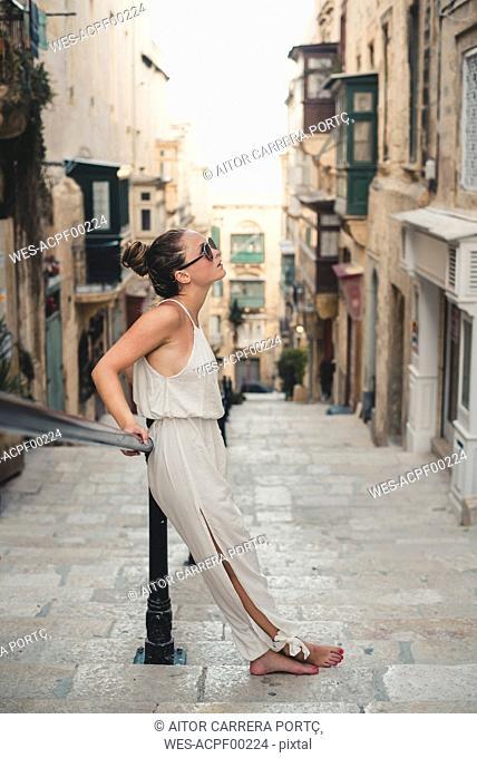Teenage girl wearing jumpsuit