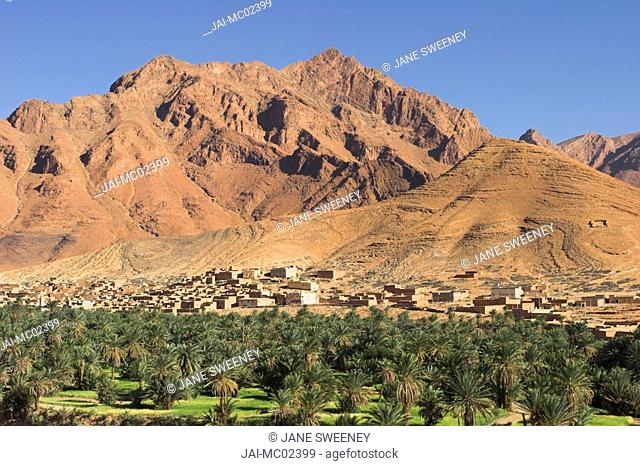 Morocco, Anti Atlas mountains between Tata and Tafraoute, Village