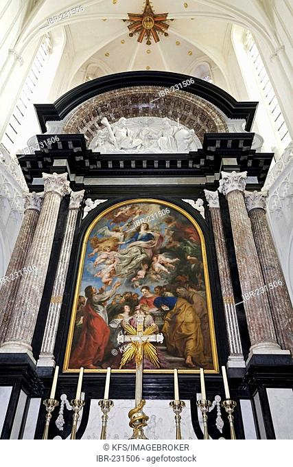Cathedral of Our Lady, main altar, assumption, painting by Rubens, antwerp, belgium