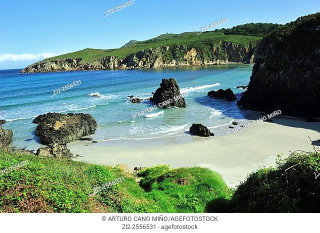 The beach of Beo. Malpica de Bergantiños, La Coruña, Spain
