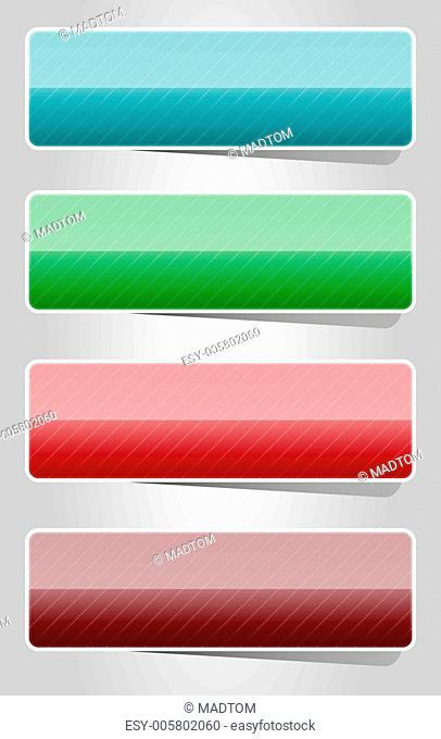 Glossy color buttons