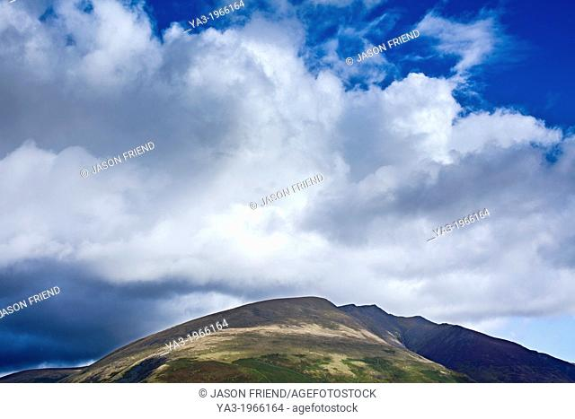 England, Cumbria, Lake District National Park. Blencathra, a mountain in the Northern Lake District near the town of Keswick also known as Saddleback