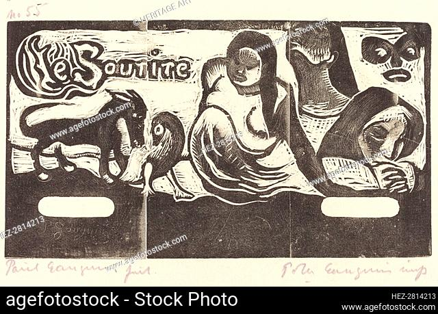 Title Page for Le Sourire (Titre du Sourire), in or after 1895. Creator: Paul Gauguin