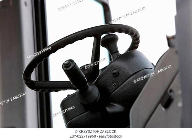 Steering wheel in new industrial machine
