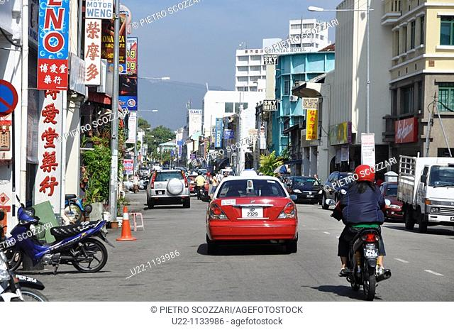 George Town, Penang (Malaysia): Lebuh Chulia, one of the main streets of the city