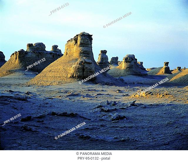 the Site of Ancient Loulan City in Lop Nur no man's-land,Sinkiang,China