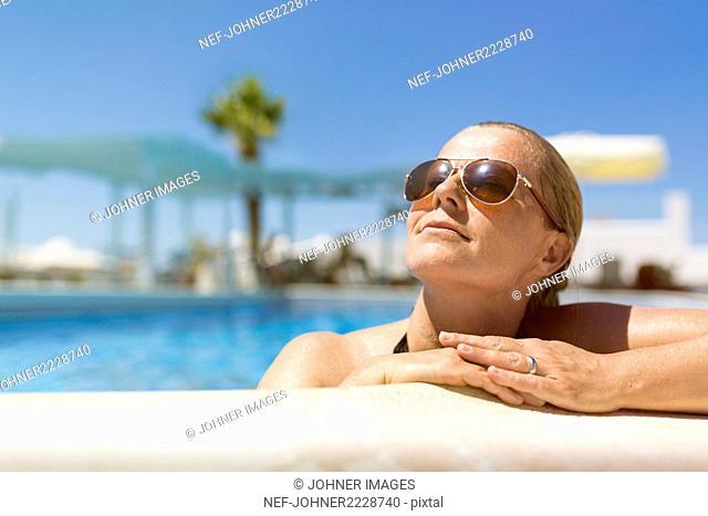 Woman in swimming-pool